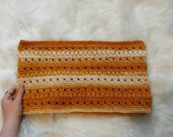 Handmade yellow ombre cowl, crocheted infinity scarf, women's scarf, winter accessories, women's cowl.