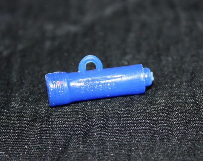 Vintage Plastic Blue FLASHLIGHT Charm Cracker Jack Toy Prize