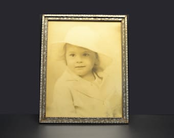 Vintage Large Photograph of a Young Girl from 1935