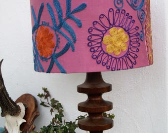 Lovely Lilac Original Embroidered Lampshade