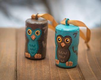Owl Cork Ornaments