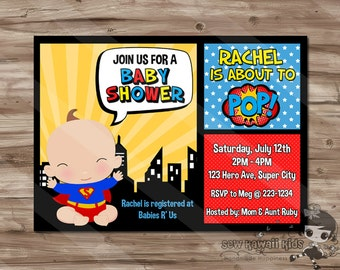 Superhero baby shower invitation etsy superhero baby shower invitation superhero invite superheroes baby shower superman spiderman batman superhero digital printable jpg file filmwisefo