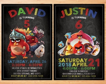 Angry Birds Invitation, Angry Birds Birthday Invitation , Angry Birds Printables , Angry Birds Invite , Angry Birds Personalized Invitation