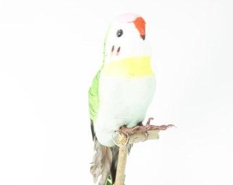 1 Green Parakeet Artificial Bird Articifial Parakeet Cake Topper Craft Supplies Embellishments Parrot Cake Topper Nr 1