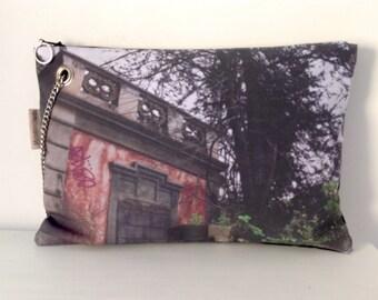 Hand bag digital print / Abandoned house / Urban landscapes / FREE SHIPPING / OOAK