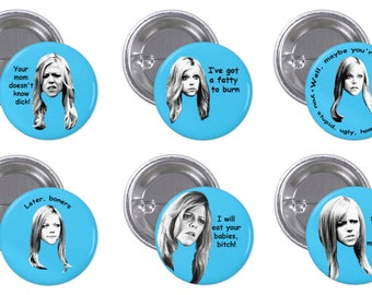 "It's Always Sunny Dee 1"" Pinback Button Set of 6"