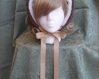 Sweet lolita teddy bear large sized bear bonnet
