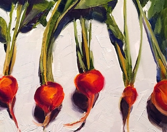 beets // beet painting // beet art // vegetable art // vegetable painting // kitchen art // kitchen painting // fine art // daily painting