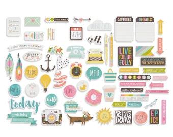 Simple Stories Carpe Diem Bits & Pieces Cardstock Die-Cuts
