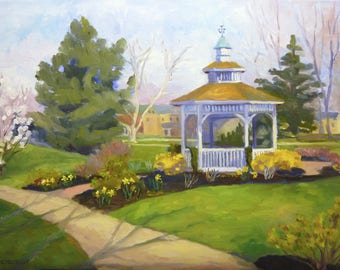 Landscape Oil Painting on Canvas A Welcome Spring Plein Air Painting