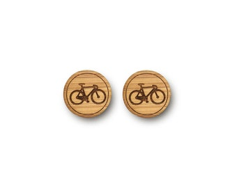 Mini Bicycle Earrings. Bike Earrings. Wood Earrings. Stud Earrings. Laser Cut Earrings. Bamboo Earrings. Gifts For Her. Gift For Women. Bike