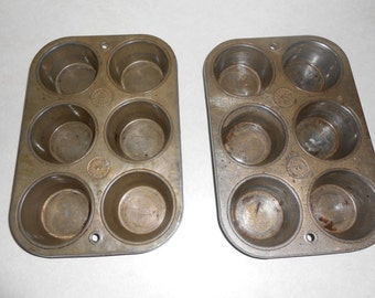 pair of Ekco muffin tin