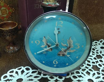Vintage Mechanical Diamond Clock, Working Condition, Chinese Clock from 1980s, Retro Clock, Gift Idea