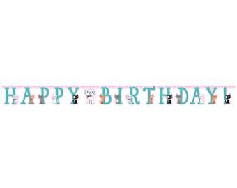 Pretty Kitty Birthday Party Banner/ Cat Birthday Party Banner/ Kitty Party Birthday Banner/ Cat Party Decor