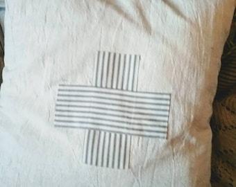 Handmade Swiss Cross Pillow.