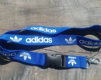 ADIDAS Lanyard Blue with White Print High Quality