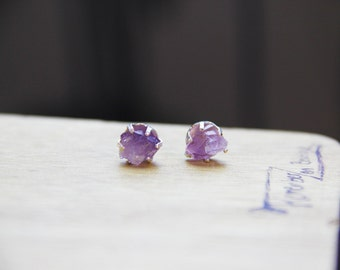 Choose your color, Stunning GENUINE Amethyst Pretty Stainless Steel Earrings (sterling silver upgrade available) amazing bridesmaids gift