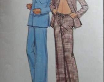 Vintage Butterick 6938 Sewing Pattern Size Large Chest 42-44 Men's Pajamas