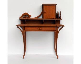 Art Nouveau Secretaire Ladyu0027s Desk Dollshouse Furniture Kit 1:12