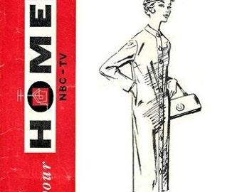 NBC-TV Home Pattern No. 10 Distinguished Dress 1950's / SZ14 Factory Folds