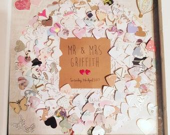 Wedding Card Keepsake Frame. Wedding Card Cut Outs Personalised Frame