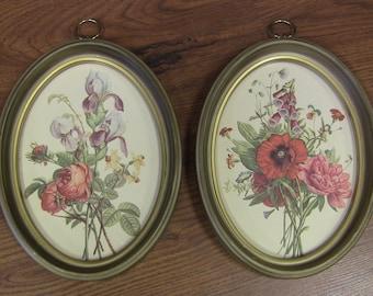 Vintage Set of Framed Botanical Prints