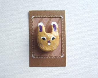 René rabbit brooch