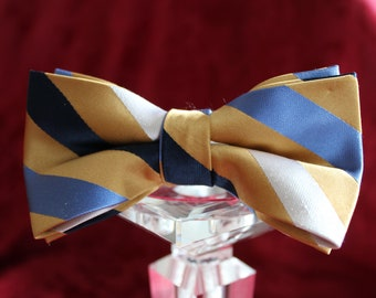 HandMade Bowtie- Upcycled Neckties- Adjustable Bowties- 100% silk Bowties