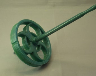 Green Ombre Danger Zone Bottom Whorl 3D Printed Spindle