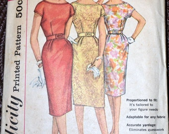 Vintage 60's  Sewing Pattern Simplicity 3461 Misses' Dress Bust 31 Complete