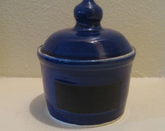 Wheel Thrown Pottery Chalkboard Canister