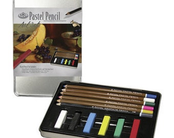 Pastel Pencil Art Kit W/Tin