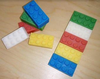 Handmade Soaps - LEGO Mini Blocks - Birthday - Party Favor - Give away - Souvenir - Party Idea - 10 Pieces