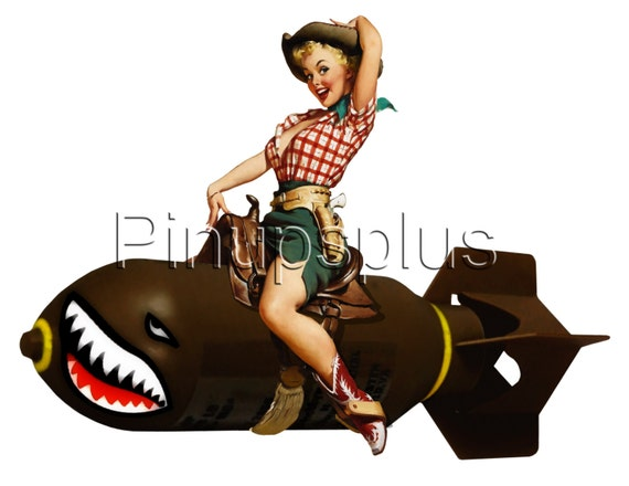 pin up on bomb