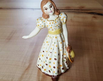 Vintage CAS Ceramic Arts Studio Mary Figurine, Betty Harrington Madison WI, Mary Had Little Lamb Nursery Decor, Collectible Girl Figurine