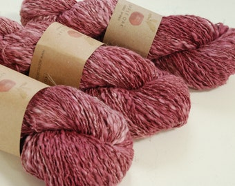 COTTON LINEN yarn~ LINCOT~ Kissed by Roses ~ summer yarn, knitting yarn, crochet, weaving, texture, linen, flax, rustic, cotton