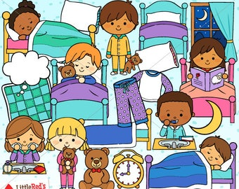 Time For Bed Bedtime Clip Art - personal and commercial use