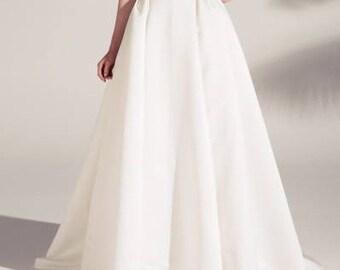 Wedding Separates bridesmaid CAROLA skirt wedding skirt with pleats & pockets  Bridal separates  30 Colour available customisation options