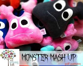 Monster Mash Up Pattern- INSTANT DOWNLOAD PDF