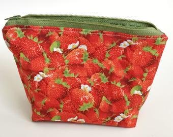Strawberries Zip Pouch