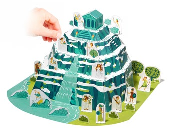 Mount Olympus Paper Toy - Paper Toy - DIY Paper Craft Kit - 3D Model Paper Figure