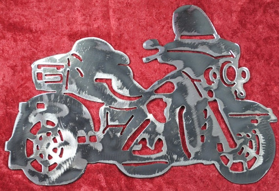 "Trike Motorcycle 12"", Biker, Three Wheel Motorcycle, Metal Art, Metal Wall Art, Metal Decor, Metal Motorcycle, Biker Chic, Biker Guy, Gift"