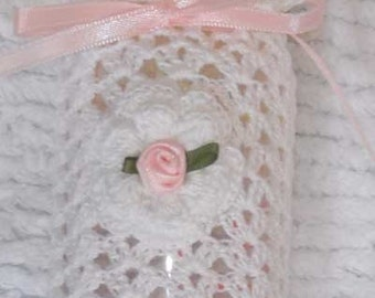 Crochet Irish Rose Baby Bottle Cover