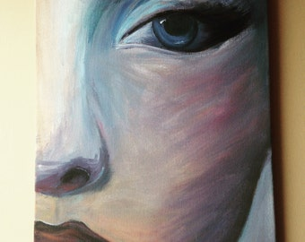 Face, Original Acrylic Painting on Canvas