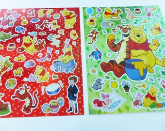 2 boards of Winnie the Pooh Disney stickers stickers