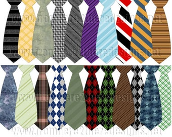 Men's Tie Clip Art, Father's Day Clip Art, Scrapbooking, Candy Wrappers, Invitations