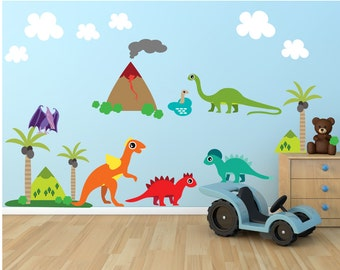 Dinosaur FABRIC Wall Decals REUSABLE Wall Decals, 800