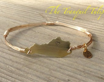 Kentucky Pride Wire Wrapped Bangle Bracelet