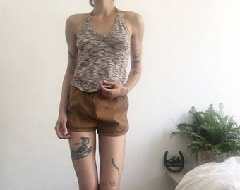 Space Dye Halter / 70s / brown / minimal / neutral / small /