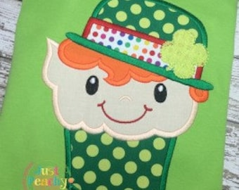 Leprechaun Cupcake 2 Applique Machine Embroidery